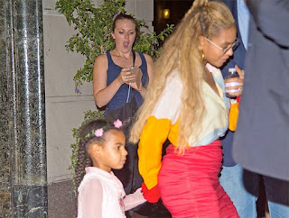 photos: Too Cute!!! Beyonce Takes Blue Shopping… Blue Ivy Is Looks More And More Liker Her Mom Every Passing Day!