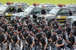 Tropa da Força Nacional chega ao Rio com 300 integrantes