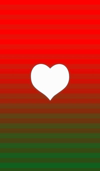 Christmas border and heart