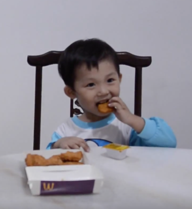 Martin loves his chicken nuggets