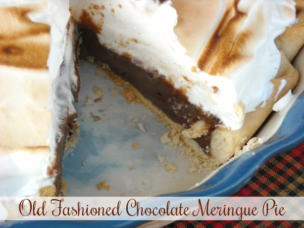 Old Fashioned Chocolate Meringue Pie
