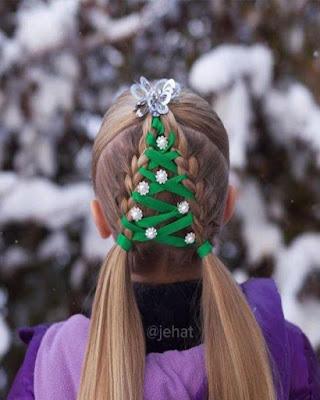 peinados navideños para niñas faciles