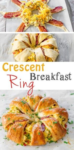 Crescent Bacon Breakfast Ring