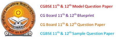 CGBSE 11th & 12th Model Question Papers 2017 Blueprint