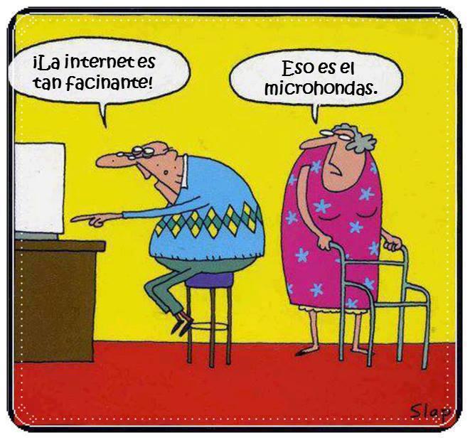 """Old Age Couple Quotes: Humor Gráfico """"Anciano Y La Tecnología"""""""
