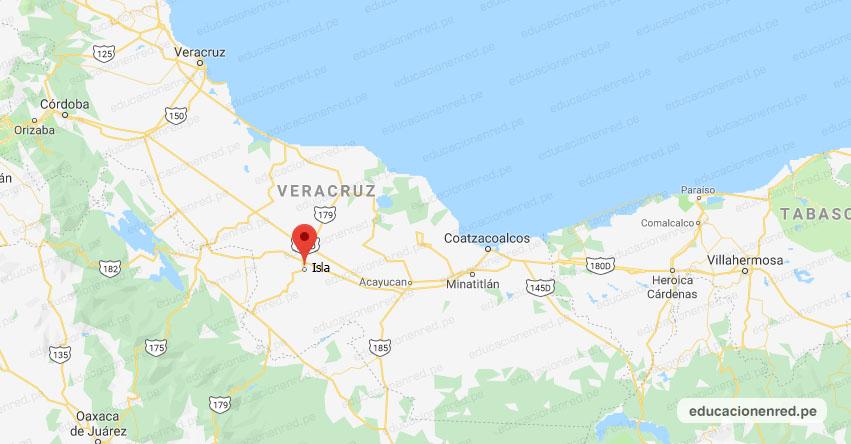 Temblor en México de Magnitud 4.0 (Hoy Sábado 10 Agosto 2019) Sismo - Epicentro - Isla - Veracruz de Ignacio de la Llave - VER. - SSN - www.ssn.unam.mx