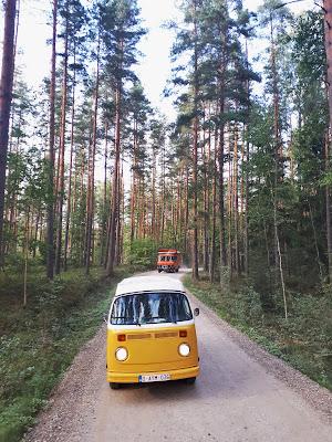 Vanlife T2 Westfalia Road trip calendar latgale latvia