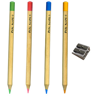 5-piece coloful chalk pencil set from RealSlates.com