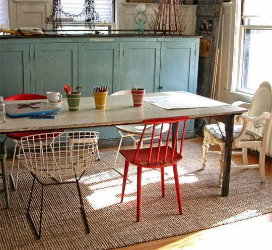 smartgirlstyle: Mismatched dining room chairs