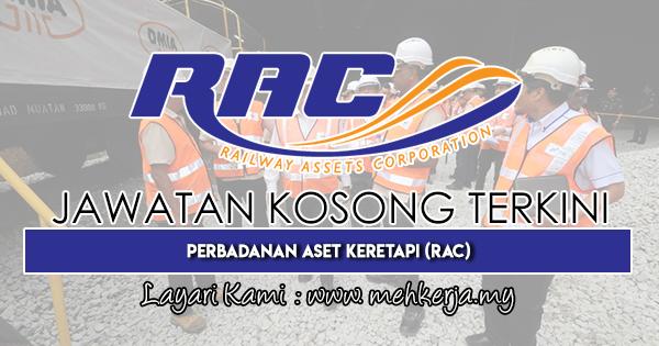 Jawatan Kosong Terkini 2018 di Perbadanan Aset Keretapi (RAC)