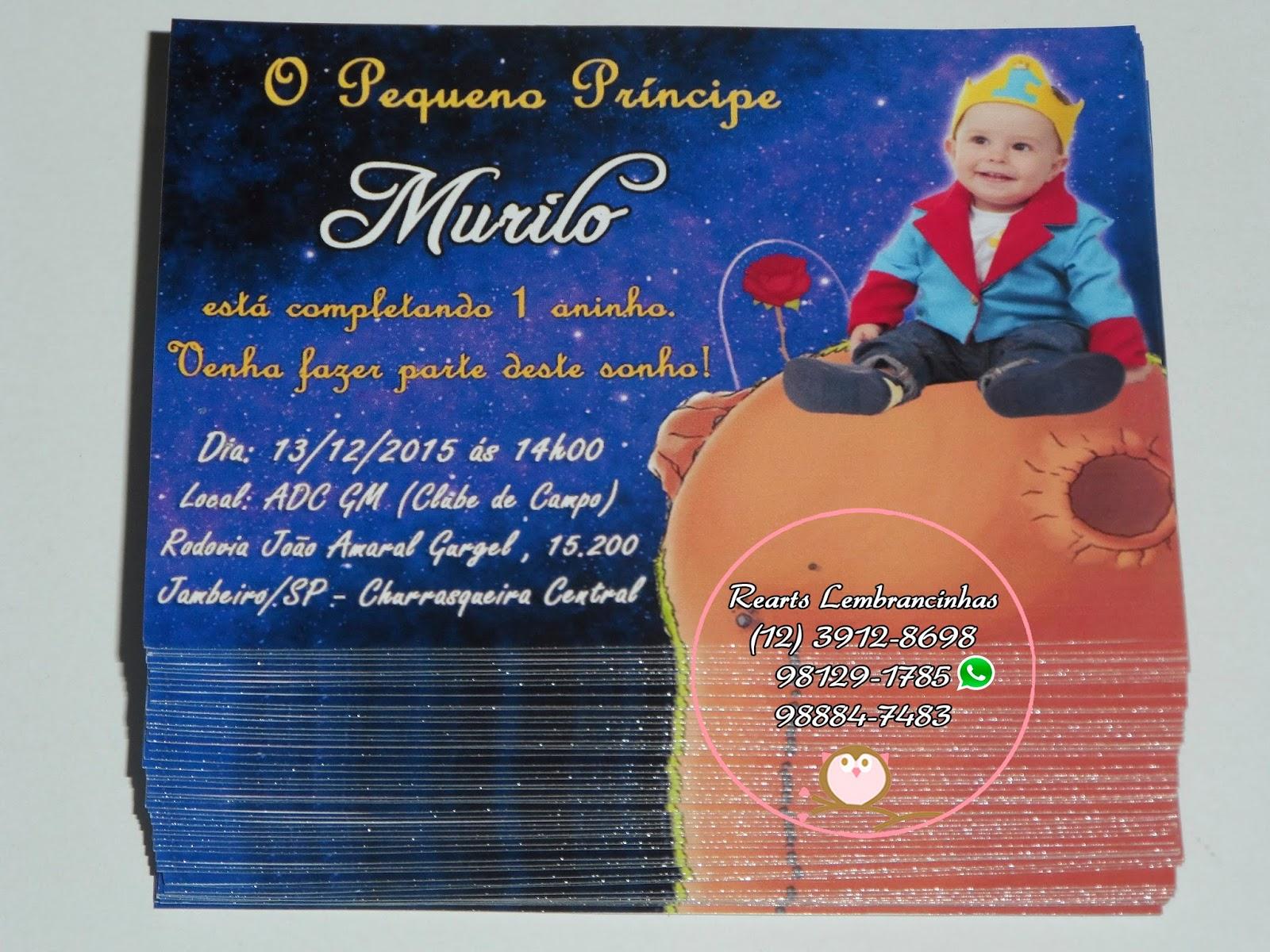 Reart S Lembrancinhas Personalizadas O Pequeno Principe Murilo 1 Ano