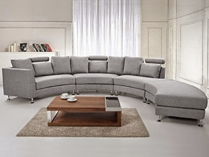 Curved Loveseat: Astoria Large Curved Sofa