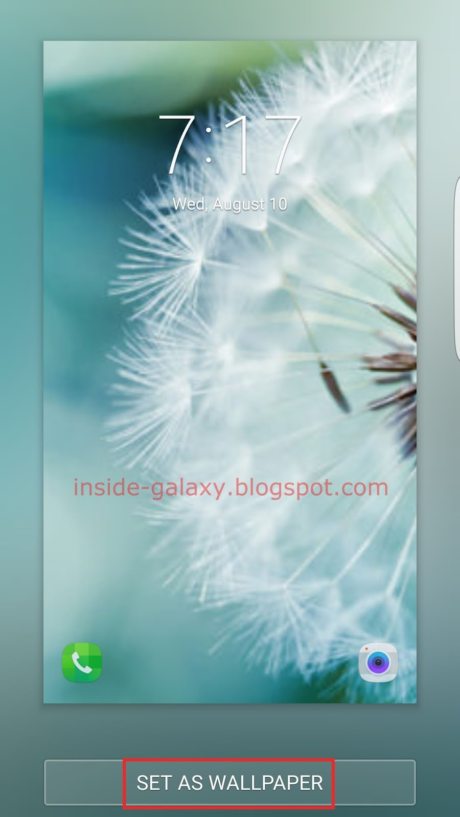 Inside Galaxy Samsung Galaxy S7 Edge How To Change Lock Screen Wallpaper In Android 6 0 1 Marshmallow