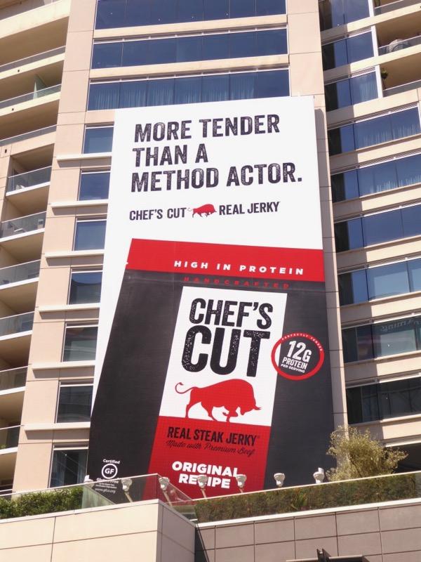 Chefs Cut Jerky method actor billboard