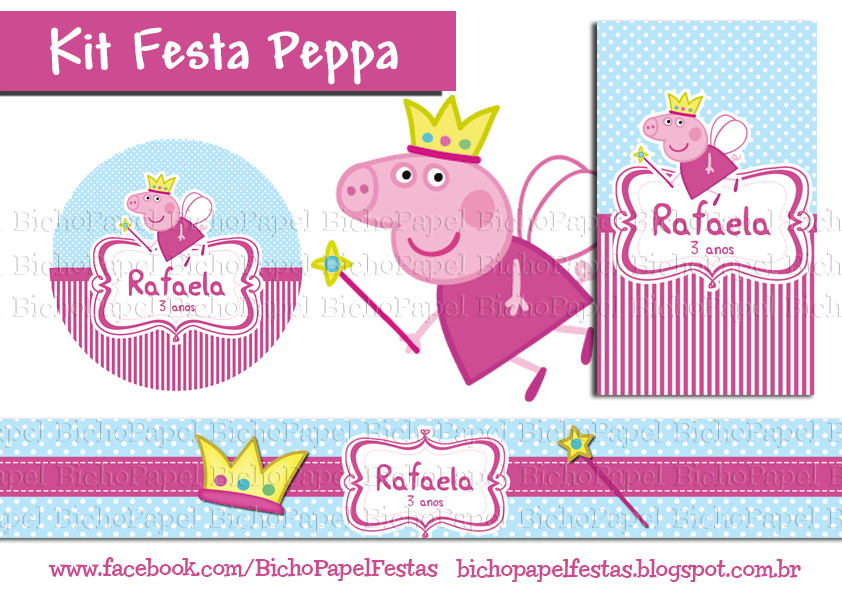 Kit Festa Peppa fada princesa
