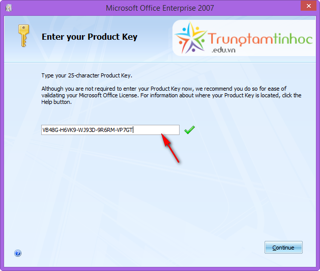 Validating microsoft office license