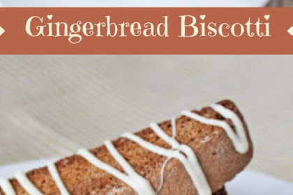 Gingerbread Biscotti #christmas #cookies