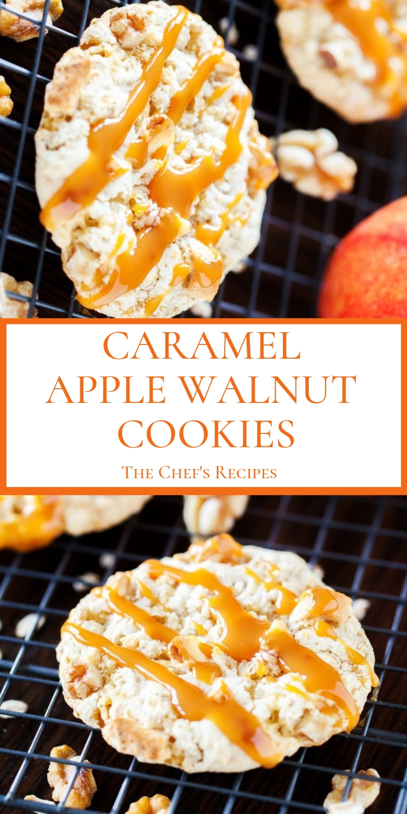 CARAMEL APPLE WALNUT COOKIES