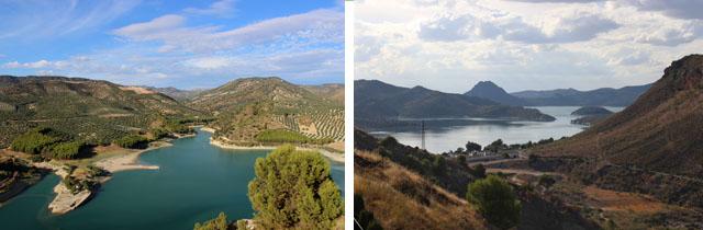 Miradores al 'lago de Andalucía'