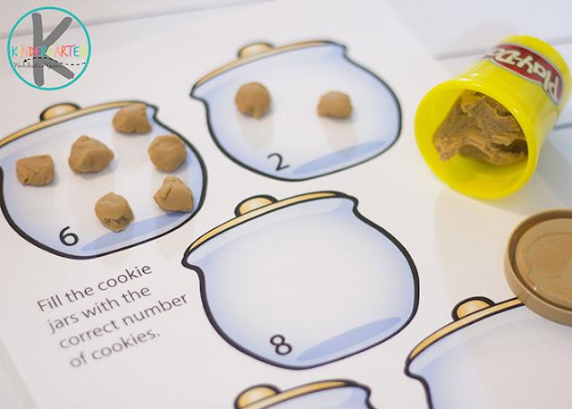 counting cookies playdough mat