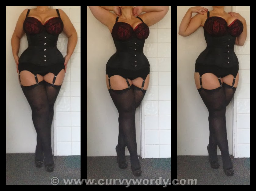 eb27976b388 I had gained a few pounds since taking the maroon 426 photos and as you can  see from the rear photo I wasn t able to lace the black 426 corset quite as  ...