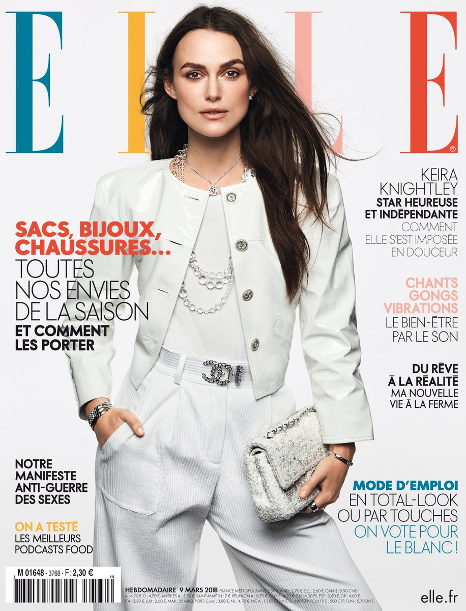 Keira Knightley on the March 2018 Cover of ELLE France
