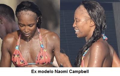 Ex modelo, Naomi Campbell, luciendo alopecia por tracción.
