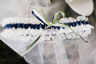 Seattle Seahawks Lace Wedding Garter by Sugarplum Garters