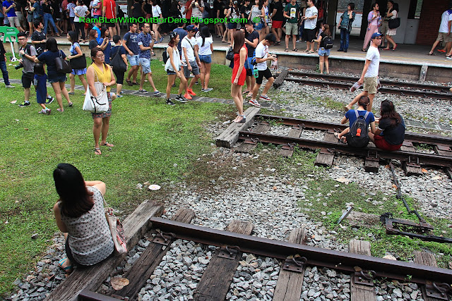End of rail lines, Tanjong Pagar Raiway Station, Singapore
