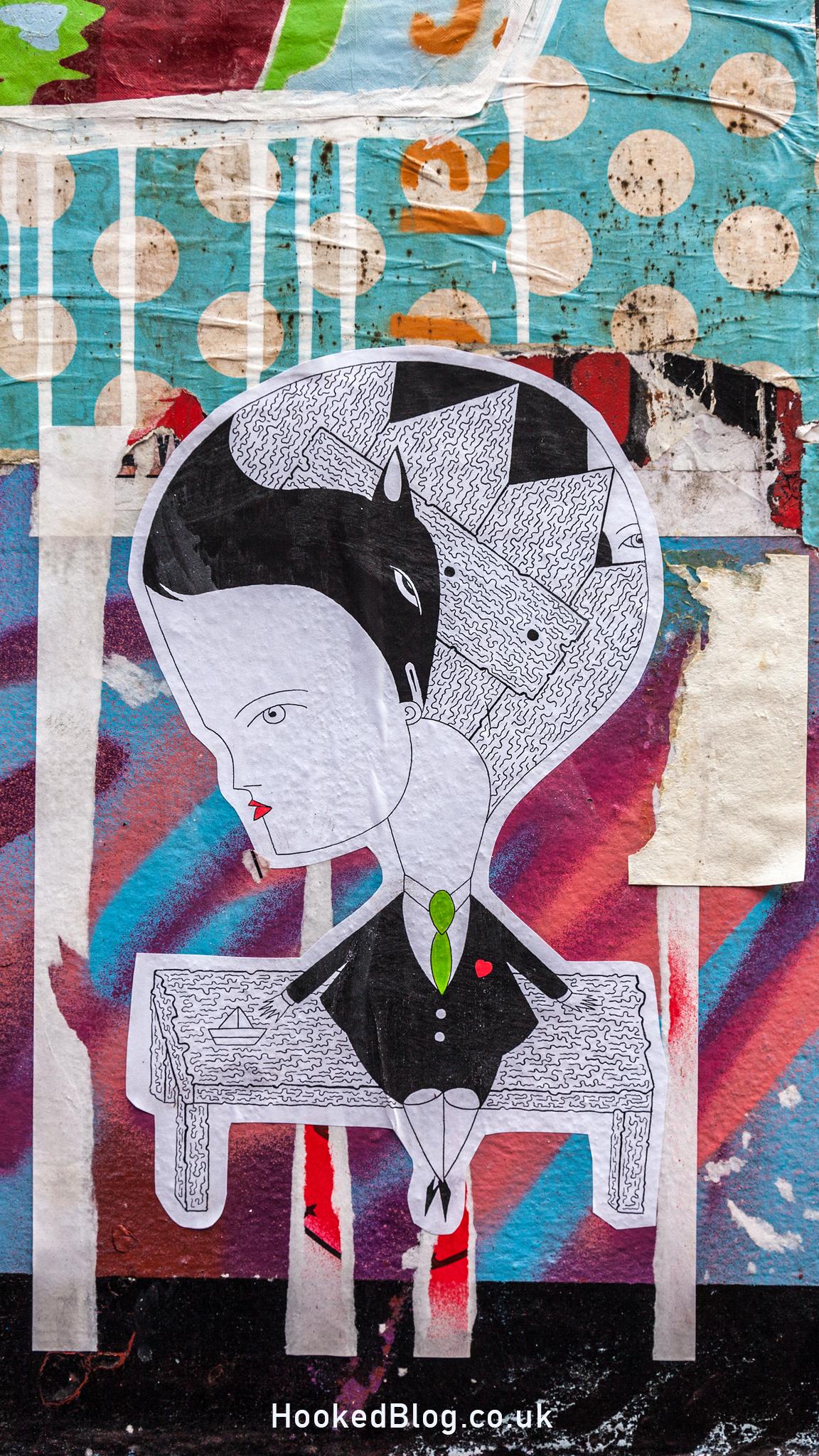 French Street Artist Fred Le Chevalier in Shoreditch, London. Photo ©Hookedblog / Mark Rigney