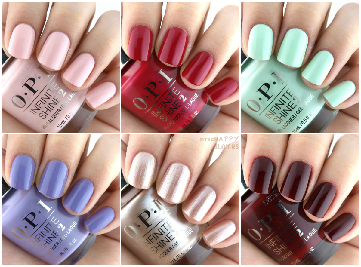 OPI Infinite Shine 2017 Iconic Shades Swatches