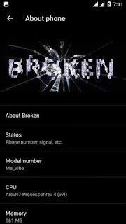 Broken OS for Cherry Mobile Me Vibe X170 [MT6592] Screenshots