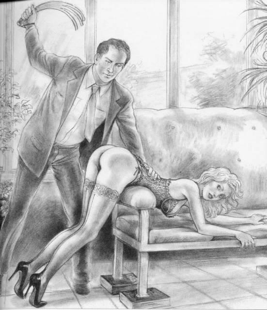 Aroused bride spank art eroic