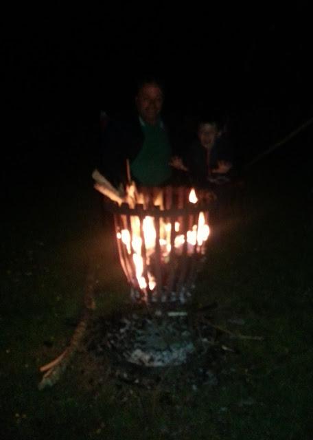 Man and Boy Camping