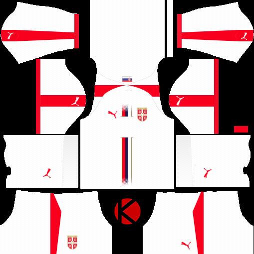 aeb7b5522d9 Serbia 2018 World Cup Kit - Dream League Soccer Kits - Kuchalana