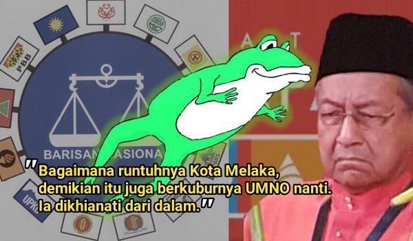Bagaimana runtuhnya Kota Melaka, demikian juga berkuburnya UMNO nanti angkara si Kitol