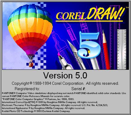 Sejarah CorelDRAW - CorelDRAW Versi 5.0 (1994)