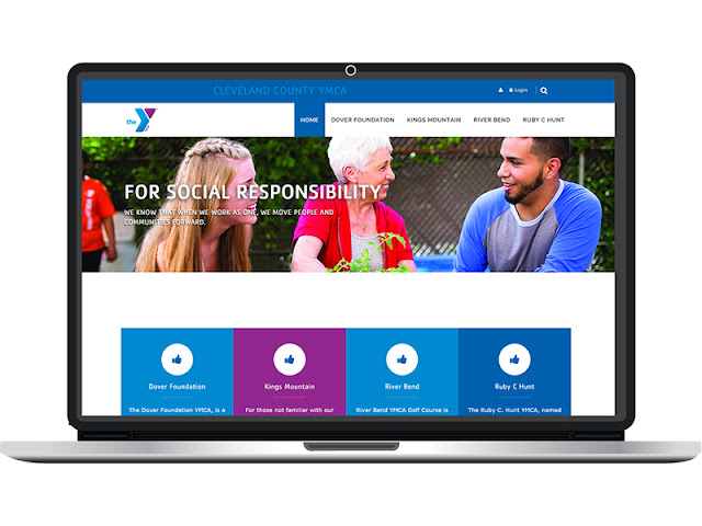 The new Cleveland County Family YMCA website designed by CC Communications.