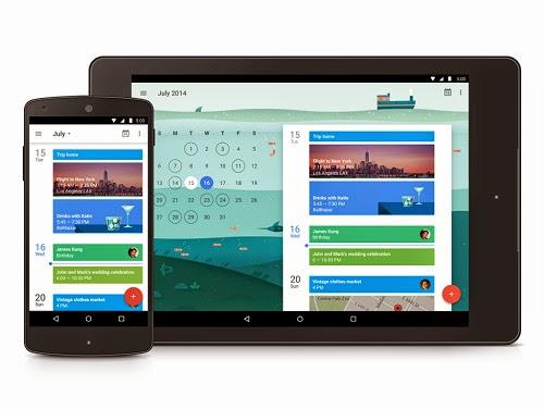 Seperti Inilah Tampilan Google Kalender Pada Android 5.0 Lollipop