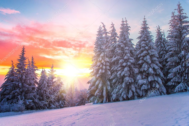 Sylvia Lhene : IL - Gérard Lenorman  dans Culture depositphotos_18947877-stock-photo-winter-landscape-on-a-sunset