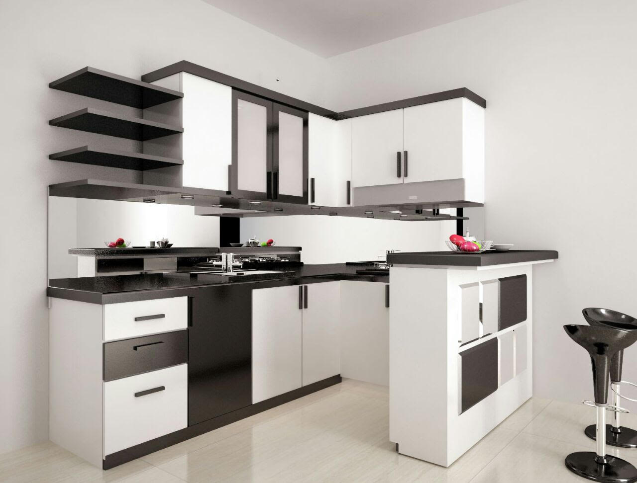 Idesign Arsitektur Kitchen Set Hitam Putih