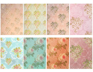 collage atc rose floral design printable crafting clipart