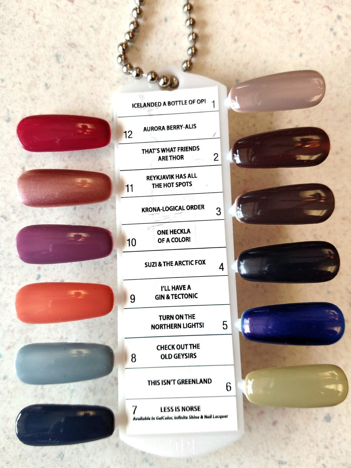 The Juicy Beauty Word: OPI Iceland Collection Fall/Winter 2017 ...