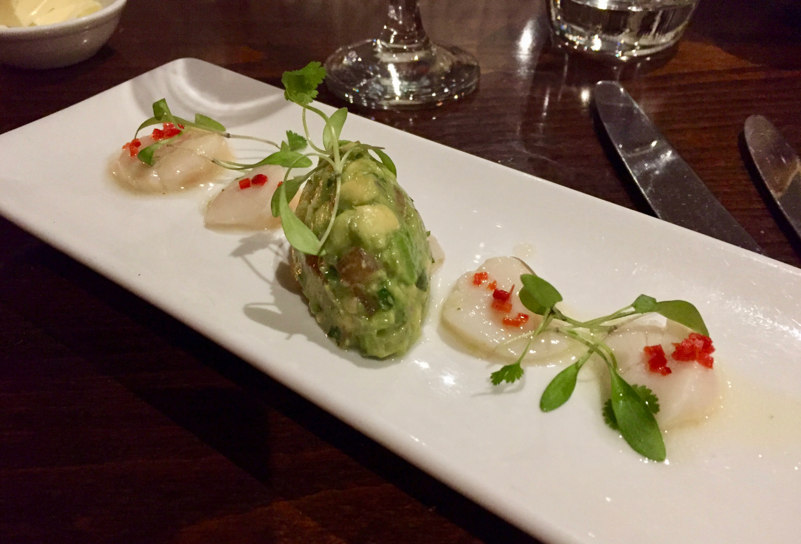Webbe's at the Fish Cafe - Scallop Cerviche with Guacamole