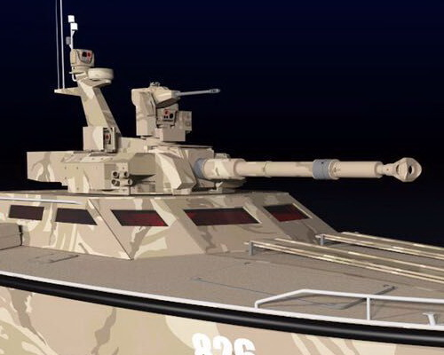 www.Tinuku.com Pindad, Lundin and CMI Defence has completed X18 Tank Boat Antasena design and slid 40 knots in swamp