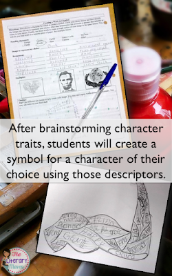"Creating word art is a creative way for students to closely analyze a character and select a symbol representative of the character's traits. You'll be surprised with the creativity of your students and even ""non-artistic"" students will enjoy this activity on characterization and symbolism."