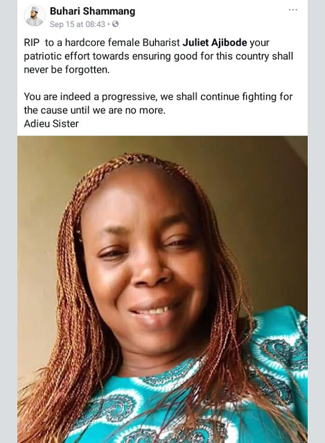 Female Buhari Supporter Murdered In Lagos