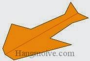 Bước 16: Hoàn thành cách xếp chiếc máy bay hình con chim én bằng giấy theo phong cách origami.