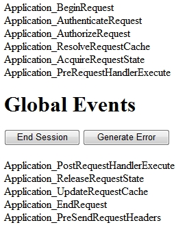 What is the use of Global asax file events in asp net - ASP NET,C#