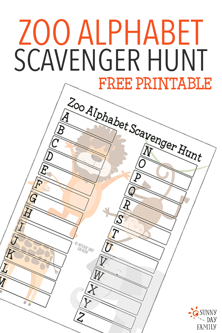 Canny image in zoo scavenger hunt printable